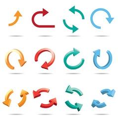 3d cycle arrow vector image vector image