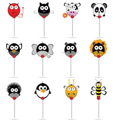 balloons animal set in colorful vector image