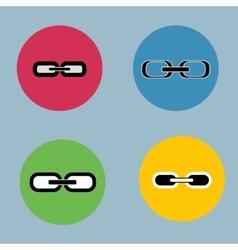 Links set Flat design Retro vintage colors vector image vector image