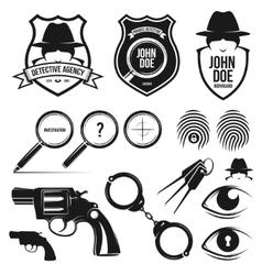 private detective set vector image vector image