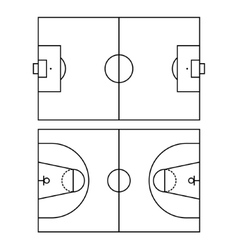 Soccer and Basketball Fields vector image