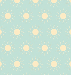 The light yellow sun pattern on green pastel color vector