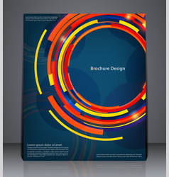 abstract digital business brochure flyer design vector image vector image