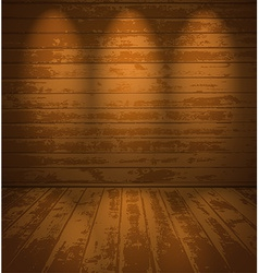 Empty wooden room vector image vector image