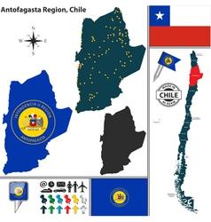 Map of Antofagasta vector image