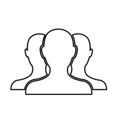 people community network team web line vector image vector image