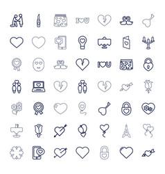 49 romantic icons vector