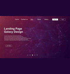 abstract website landing page vector image