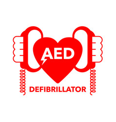 Aed icon - automated external defibrillator vector