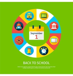 Back to School Flat Infographic Concept vector image