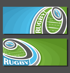 banners for rugby vector image