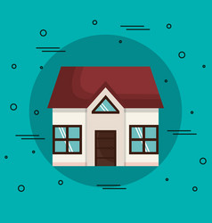 Beautiful house icon vector
