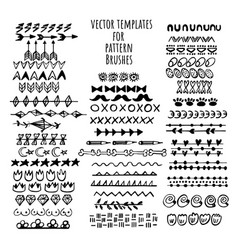 brushes templates set make a brush with this vector image