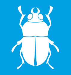 Bug icon white vector