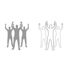 business people it is black icon vector image
