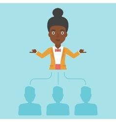 Business woman choosing employee vector image