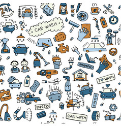 Car washing seamless pattern for your design vector