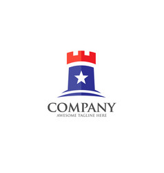 castle logo concept vector image