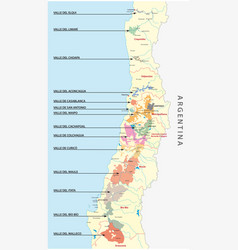 chilean wine country map vector image