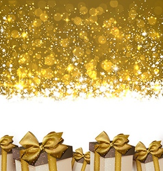 Christmas golden abstract background vector image
