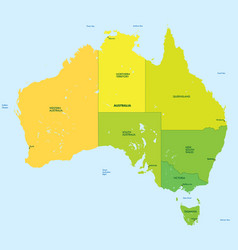 Color map of australia vector