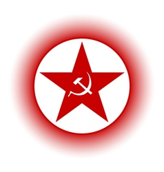 Communism star button vector