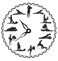 Concept love watch for making love any time is vector