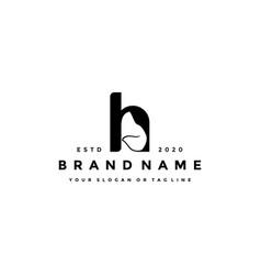 Creative design initials letter h dog vector