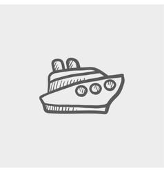 Cruise ship sketch icon vector