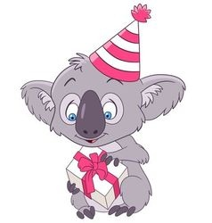 cute and happy cartoon koala vector image