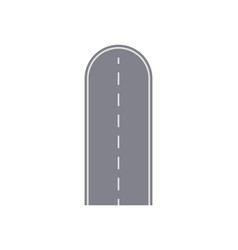Dead end road isolated street map segment vector