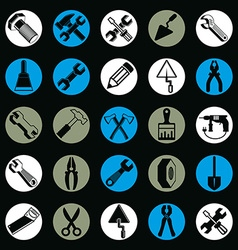 Detailed work tools collection 3d repair vector