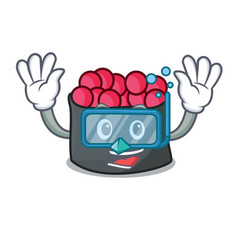 Diving ikura character cartoon style vector