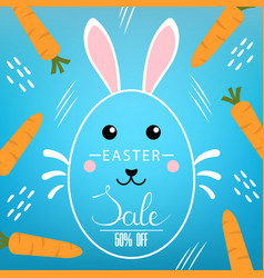 easter discount with lettering inscription vector image