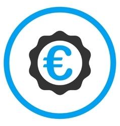 Euro Award Seal Rounded Icon vector