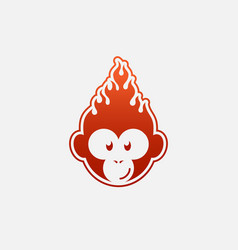 fire monkey vector image
