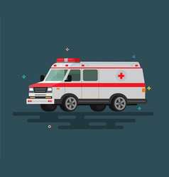 flat ambulance vector image