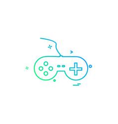 game console icon design vector image