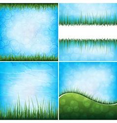 Grass backgrounds vector
