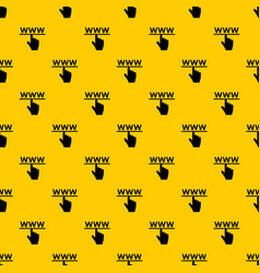 hand cursor and website pattern vector image