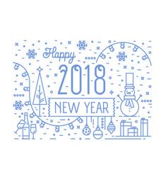 happy new 2018 year horizontal banner greeting vector image vector image
