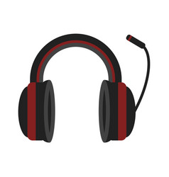 Headphones music technology accessory icon vector