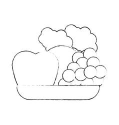 healthy food icon image vector image