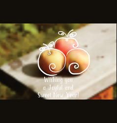 Holiday greetings rosh hashanah vector