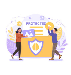 Intellectual property protection concept vector