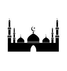 Islamic mosque pictograph depicting a mosque black vector