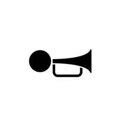 klaxon beep flat icon vector image