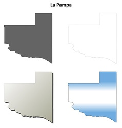 La Pampa blank outline map set vector image