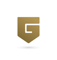 Letter G number 6 shield logo icon design template vector