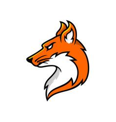 logo fox vector image